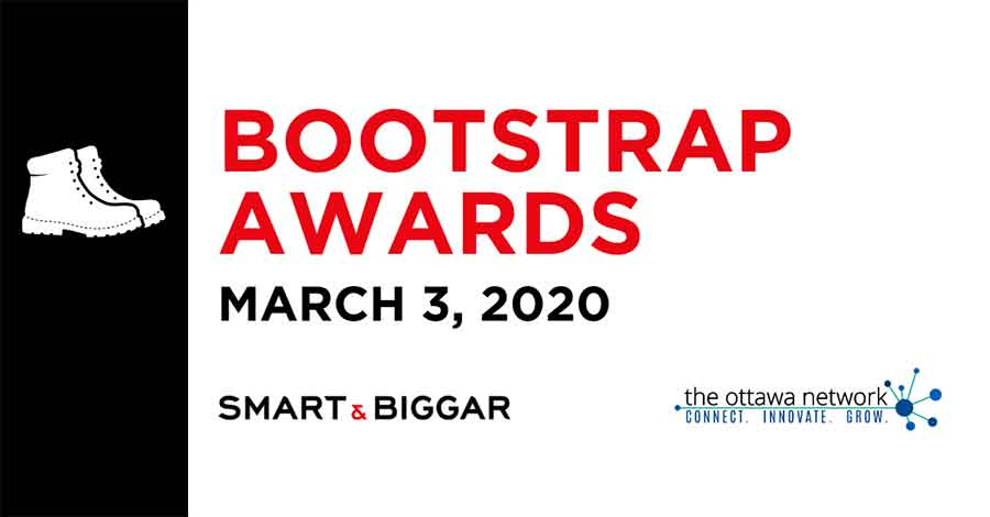 Logos of Smart & Biggar, The Bootstrap Awards, and The Ottawa Network